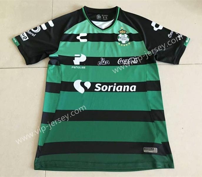 pretty nice f5cdb f2fb2 2018-19 Santos Laguna Away Black&Green Thailand Soccer Jersey AAA