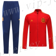 2020 European Cup Spain Red (Ribbon) Thailand Soccer Jacket Unifrom-LH