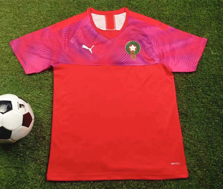 2019-2020 Morocco Home Red Thailand Soccer Jersey AAA