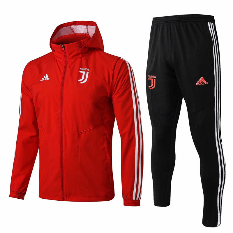 2019-2020 Juventus Red Trench Coats Uniform With Hat-815