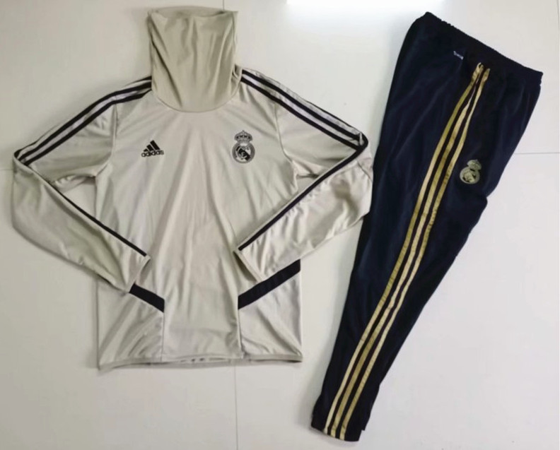 2019-2020 Real Madrid Earthy Yellow Thailand Soccer Tracksuit -GDP