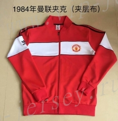 Retro Version 1984 Manchester United Red Thailand Soccer Jacket -AY