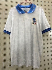 Retro Version 1994 Italy Away White Thailand Soccer Jersey AAA-811