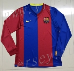 Retro Version 2006-2007 Barcelona Home Red&Blue Thailand LS Soccer Jersey AAA-SL