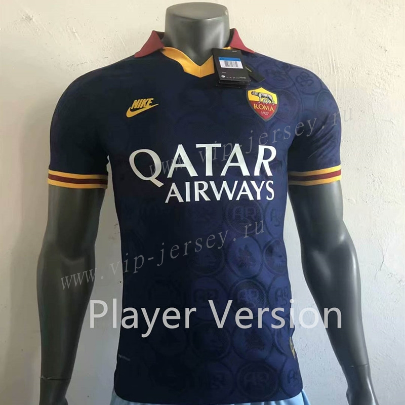 New 2019-2020 Roma second Away soccer Jersey And the Serie A patch size S-XXL