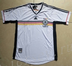 Retro Version 1998 Germany White Thailand Soccer Jersey AAA-912