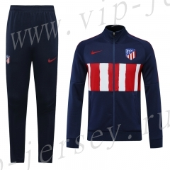 Player Version 2020-2021 Atletico Madrid Blue&Red Thailand Soccer Jacket Uniform-LH