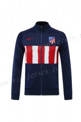 Player Version 2020-2021 Atletico Madrid Blue&Red Thailand Soccer Jacket-LH
