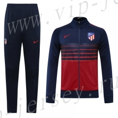 Player Version 2020-2021 Atletico Madrid Royal Blue&Red Thailand Soccer Jacket Uniform-LH