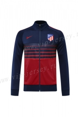 Player Version 2020-2021 Atletico Madrid Royal Blue&Red Thailand Soccer Jacket-LH