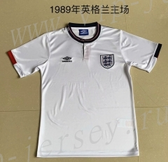 Retro Version 1989 England Home White Thailand Soccer Jersey AAA-AY