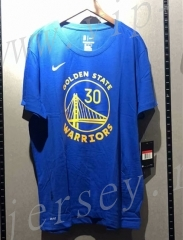 Golden State Warriors NBA Blue #30 Cotton T Jersey