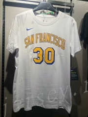 NBA White #30 Cotton T Jersey