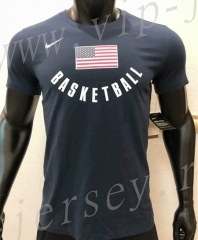 USA NBA Royal Blue Cotton T Jersey