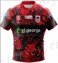 2020-2021 San Giorgio NINES Red Rugby Shirt