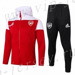 2020-2021 Ajax Red Thailand Soccer Jacket Uniform With Hat-815