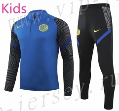 2020-2021 Inter Milan Blue Kids/Youth Tracksuit Uniform-GDP
