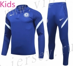 2020-2021 Chelsea Blue Kids/Youth Soccer Tracksuit-GDP