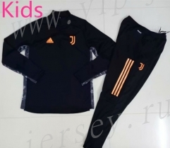 UEFA Champions League 2020-2021 Juventus Black Kids/Youth Tracksuit-GDP