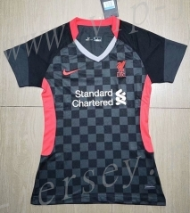 2020-2021 Liverpool 2nd Away Black Women Thailand Soccer Jersey AAA