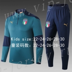 2020-2021 Italy Green Kids/Youth Soccer Tracksuit-411