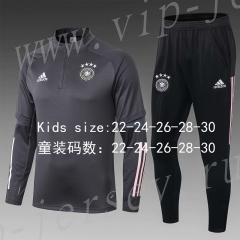 2020-2021 Germany Dark Gray Kid/Youth Soccer Tracksuit-411