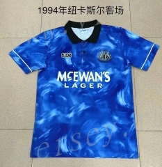 Retro Version 1994 Newcastle United Away Blue Thailand Soccer Jersey AAA-709