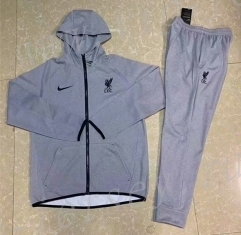 2020-2021 Liverpool Light Gray Thailand Soccer Jacket Uniform With Hat-GDP