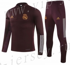 UEFA Champions League 2020-2021 Real Madrid Jujube Red Soccer Tracksuit-GDP