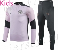 2020-2021 Manchester City Pink Kids/Youth Soccer Tracksuit-GDP