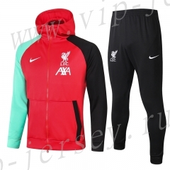 2020-2021 Liverpool Red Thailand Soccer Jacket Uniform With Hat-815