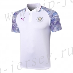 2020-2021 Manchester City White Thailand Polo-815