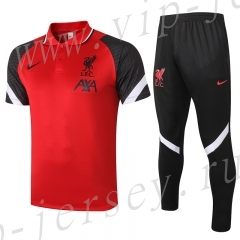 2020-2021 Liverpool Red&Black Polo Uniform-815