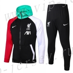 2020-2021 Liverpool Black Thailand Soccer Jacket Uniform With Hat-815