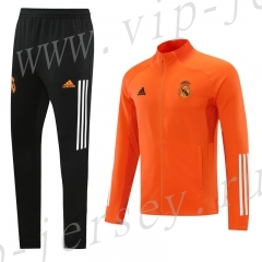 2020-2021 Real Madrid orange  Thailand Soccer Jacket Uniform-LH
