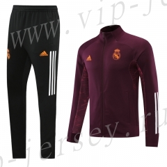 2020-2021 Real Madrid Claret Red  Thailand Soccer Jacket Uniform-LH