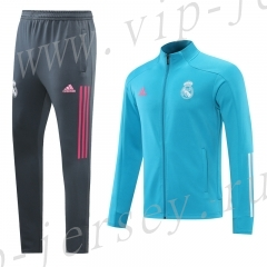2020-2021 Real Madrid sky blue  Thailand Soccer Jacket Uniform-LH