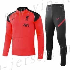 2020-2021 Liverpool Orange red  Kids/Youth Soccer Tracksuit-GDP