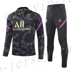 2020-2021 Paris SG Black Pad printing Kids/Youth Tracksuit-GDP