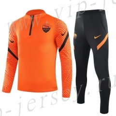 2020-2021 Roma Orange Kids/Youth Soccer Tracksuit -GDP