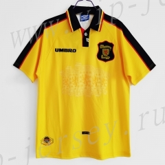 Retro Version 96-98 Scotland Away Yellow Thailand Soccer Jersey AAA-c1046