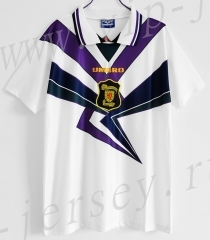 Retro Version 94-96 Scotland  Away White  Thailand Soccer Jersey AAA-c1046