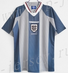 Retro Version 1996 England Away Gray Thailand Soccer Jersey AAA-c1046