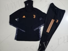 2020-2021 Juventus Black High Collar Thailand Soccer Tracksuit -GDP