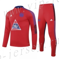 2020-2021 Signed jointly  Bayern München Red Kids/Youth Tracksuit Uniform-GDP