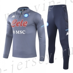 2020-2021 Napoli Gray  Kids/Youth Soccer Tracksuit-GDP