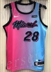 21 season Miami Heat City Edition Gradient #28 NBA Jersey-311