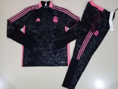 2020-2021 Real Madrid Black Pad printing Kids/Youth Soccer Tracksuit-GDP