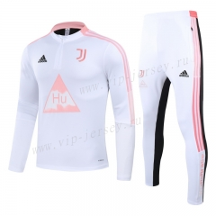 2020-2021 Signed jointly Juventus White Kids/Youth Tracksuit-GDP