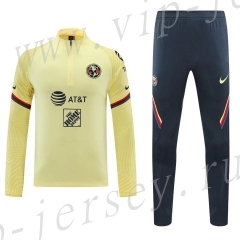 2020-2021 Club América Yellow Thailand Soccer Tracksuit-418